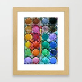 watercolor palette Digital painting Framed Art Print