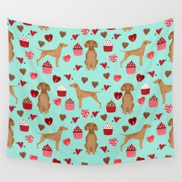 Vizsla valentines day dog breed gifts for dog lover unique dog pet portraits animal art Wall Tapestry