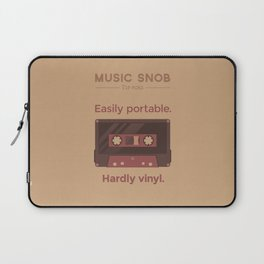 Cassettes. — Music Snob Tip #062 Laptop Sleeve