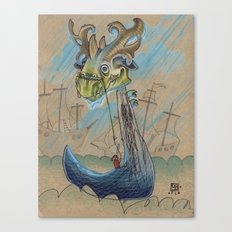DRAGON BOAT Canvas Print