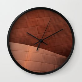 Architectural abstract of the home to the LA Philharmonic, Architect: Frank Gehry Wall Clock
