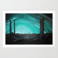 Grave Towers Art Print