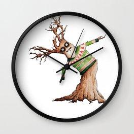 Christmas Sweater Tree 02 Wall Clock