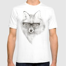 Fox Specs White Mens Fitted Tee MEDIUM