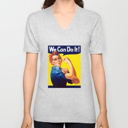Rosie The Riveter -- We Can Do It Unisex V-Neck