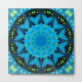 Mandala Source of light Metal Print