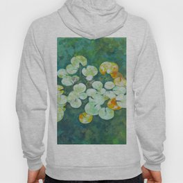 Tranquil lily pond Hoody