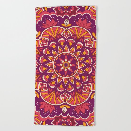 Mandala 43 Beach Towel