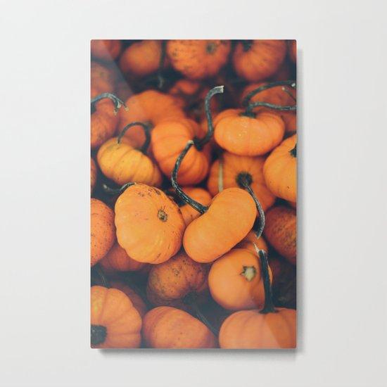 Obligatory Pumpkin Selfie  Metal Print
