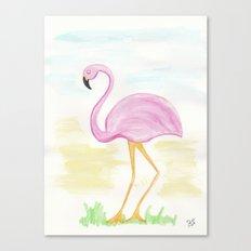 Winter Flamingo Canvas Print