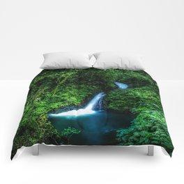 Jungle Waterfall Comforters