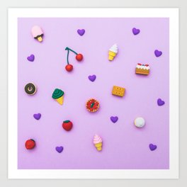 pattern of sweets Art Print