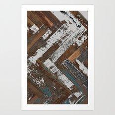 Rustic Wood Art Print