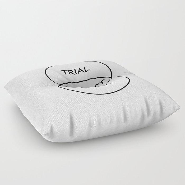 Trial and Error Floor Pillow