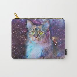 Proud Cat With Space Background                                                                   Carry-All Pouch