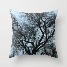Storm trees Throw Pillow