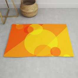 Orange Spheres Abstract Rug