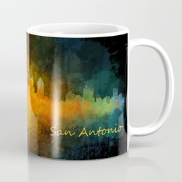 San Antonio City Skyline Hq v4 Coffee Mug