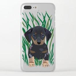 Sausage Dog Design Clear iPhone Case