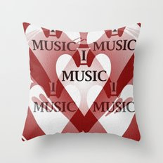 yo amo la música Throw Pillow