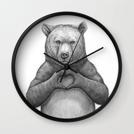 Bear with love Wall Clock