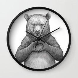 Bear with love Wall Clock