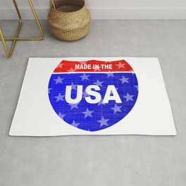 Interstate Made In The USA Sign Rug