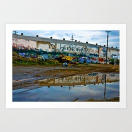 Reflections of Los Angeles graffiti Art Print