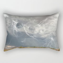 Arrival of the Monsoon Storm Generator Rectangular Pillow