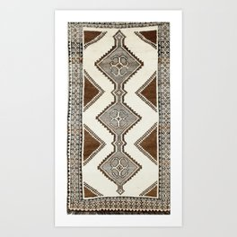 Luri Gabbeh  Antique Fars South West Persian Rug Print Kunstdrucke