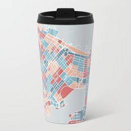 Colorful Vancouver map Travel Mug