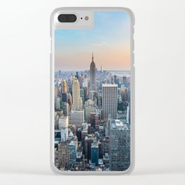 Manhattan - View from Top of the Rock - Rockefeller Center - New York Clear iPhone Case