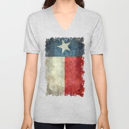 Texas state flag, Vertical retro vintage Unisex V-Neck