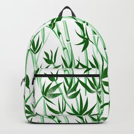 Bamboo tree pattern green  Backpack