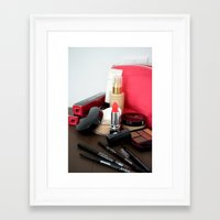 make up Framed Art Prints featuring Make-Up by Tanya Thomas