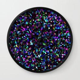 Mosaic Glitter Texture G45 Wall Clock