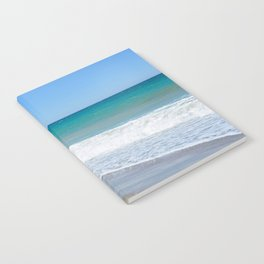 Sandy beach and Mediterranean sea Notebook