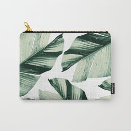 Tropical Banana Leaves Vibes #1 #foliage #decor #art #society6 Carry-All Pouch