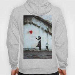Banksy street art / photograph - girl with red ballon Hoody