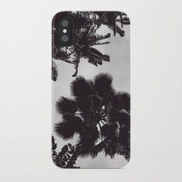 Jungle Canopy - Black and White iPhone Case