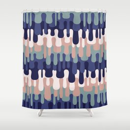 Funny Liquid Abstract Colorful Pattern 001 Shower Curtain