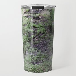Nature reclaiming picnic bench Travel Mug