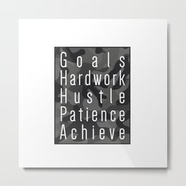 Way to success - goals, hardwork, hustle, patience, achieve Metal Print