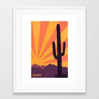 arizona Framed Art Prints featuring Arizona by AtomicChild