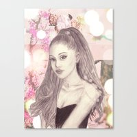 ariana grande Canvas Prints featuring Ariana by Share_Shop