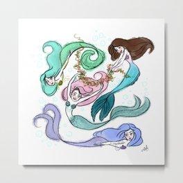 Mermaids Party! Metal Print