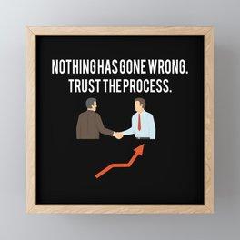 Stock Market Trader Saying Framed Mini Art Print