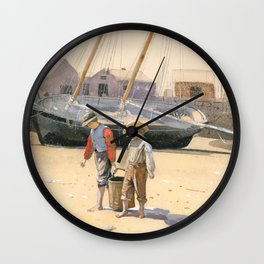 A Basket of Clams Wall Clock