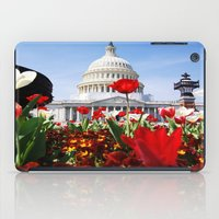 patriotic iPad Cases featuring Patriotic Tulips by Madison Webb