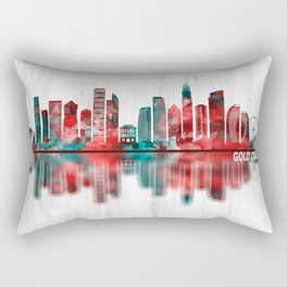 Gold Coast Australia Skyline Rectangular Pillow
